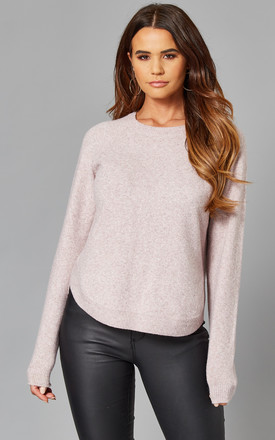 Long Sleeve Curve Hem Jumper In Pink by VM Product photo