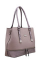 CROC PRINT ZIP FEATURE TOTE BAG IN PURPLE by BESSIE LONDON