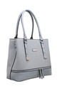 CROC PRINT ZIP FEATURE TOTE BAG IN BLUE by BESSIE LONDON