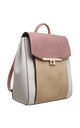 FLAP OVER BACKPACK IN WHITE/MULTICOLOUR by BESSIE LONDON
