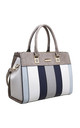 CROC PRINT TOTE BAG IN BLUE/MULTICOLOUR by BESSIE LONDON