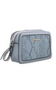 SNAKE PRINT CAMERA BAG IN BLUE by BESSIE LONDON