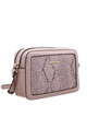SNAKE PRINT CAMERA BAG IN PINK by BESSIE LONDON