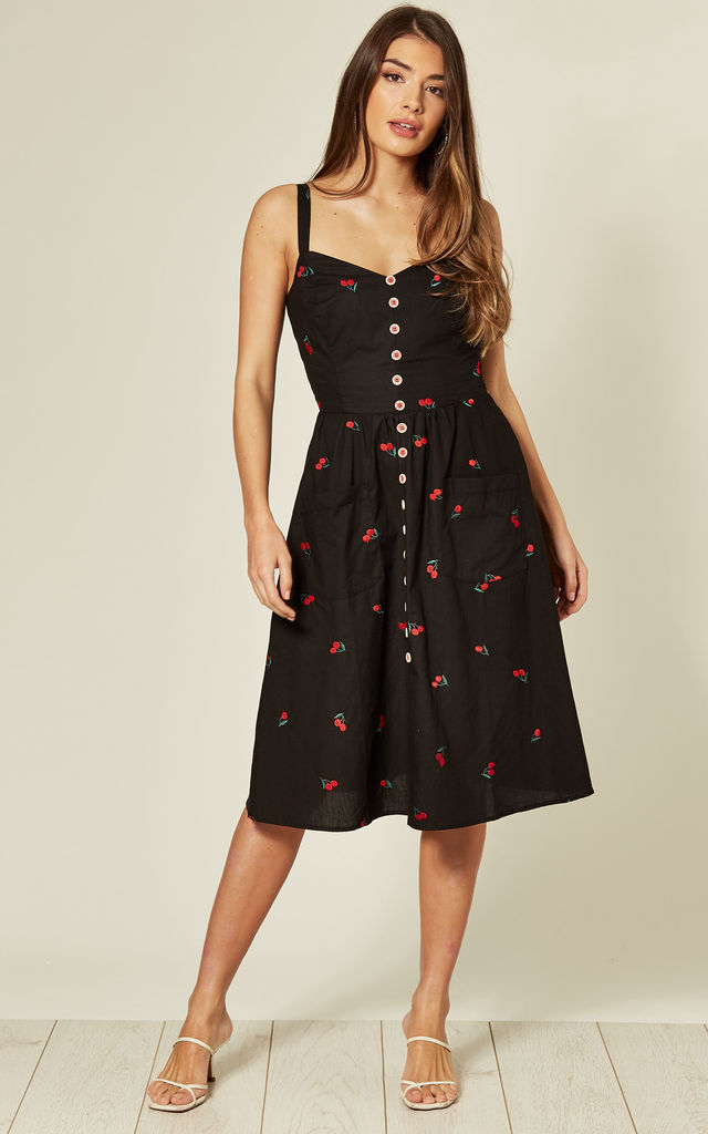Kimberly Cherry swing dress by Collectif Clothing