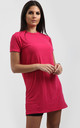 Rosie Oversized Tshirt Dress In Cerise by Oops Fashion
