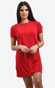 Rosie Oversized Tshirt Dress In Red by Oops Fashion