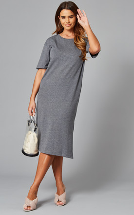 Jersey Midi Dress In Grey by Noisy May Product photo