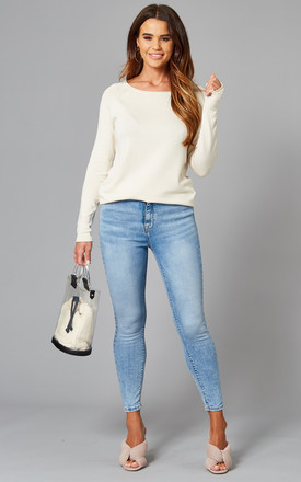 High Waisted Skinny Jeans In Light Blue by ONLY Product photo