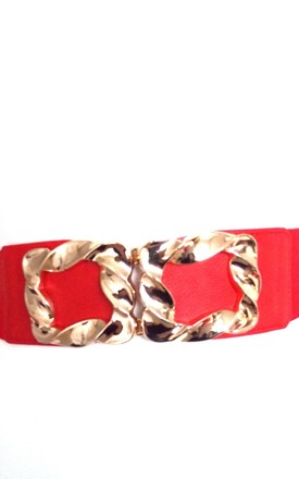 Stretch Style Waspy Belt in Red by Olivia Divine Jewellery