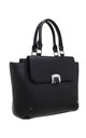 FLAP OVER FRONT POCKET TOTE BAG IN BLACK by BESSIE LONDON
