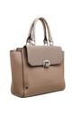 FLAP OVER FRONT POCKET TOTE BAG IN KHAKI by BESSIE LONDON