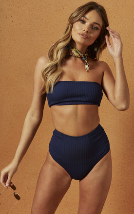 Malau High Waisted Bikini Bottom In Navy by Charlie Holiday Product photo