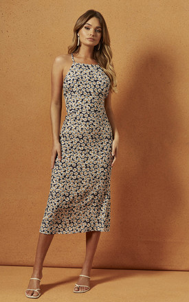 Presley Halter Midi Dress In Daisy Floral by Charlie Holiday Product photo