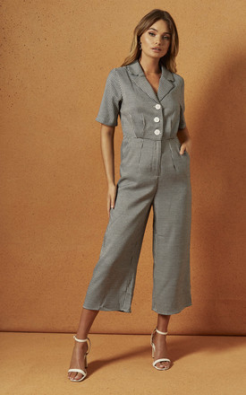 Harvey Jumpsuit In Houndstooth by Charlie Holiday Product photo