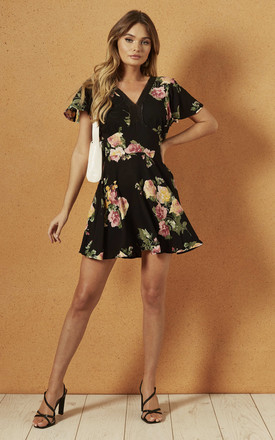 Sycamore Mini Dress In Black Rose by Band Of Gypsies Product photo