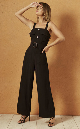 Geneva Jumpsuit In Black by Band Of Gypsies Product photo