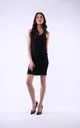 Black Mini Dress on Straps by Bergamo