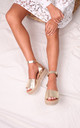 Moonlight Gold Espadrille Style Flatforms by Linzi