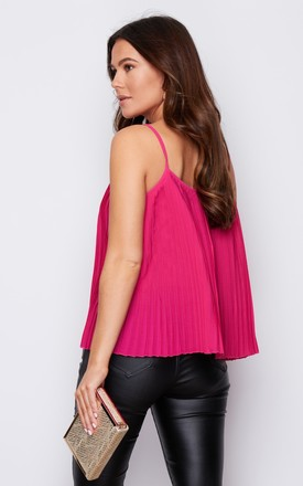 Jenna Pleated Cami Top Hot Pink by Girl In Mind