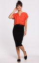 Knee Lenght Pencil Skirt in Black by MOE