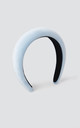 Padded Velvet Hairband in Cloud Blue by Maids to Measure
