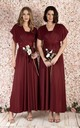 Twist & Tie Multiway Bridesmaid Maxi Dress with Bandeau in Burgundy by JOLIE MOI