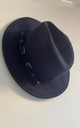 Noa Navy buckle felt fedora hat by Kate Coleman