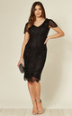 Downton Abbey Vintage Inspired Flapper Dress in Black by Gatsbylady London