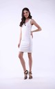 White Mini Dress on Straps by Bergamo