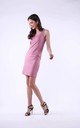 Pink Mini Dress on Straps by Bergamo