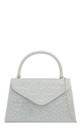 Silver beaded sliver detail handbag by Hello Handbag