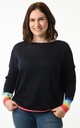 Navy Jumper with Rainbow Cuffs by Nautical and Nice Ltd