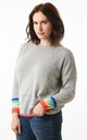 Grey Jumper with Rainbow Cuffs by Nautical and Nice Ltd