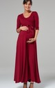 Maternity & Nursing Layered Maxi Dress in Crimson red by Chelsea Clark