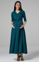 Maternity & Nursing Layered Maxi Dress in Dark Green by Chelsea Clark