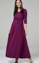 Maternity & Nursing Layered Maxi Dress in Plum 608 by Chelsea Clark