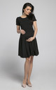 Maternity & Nursing Swing Dress in Black by Chelsea Clark