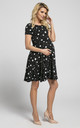 Maternity & Nursing Swing Dress in Black Star Print by Chelsea Clark