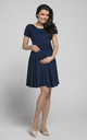 Maternity & Nursing Swing Dress in Navy by Chelsea Clark