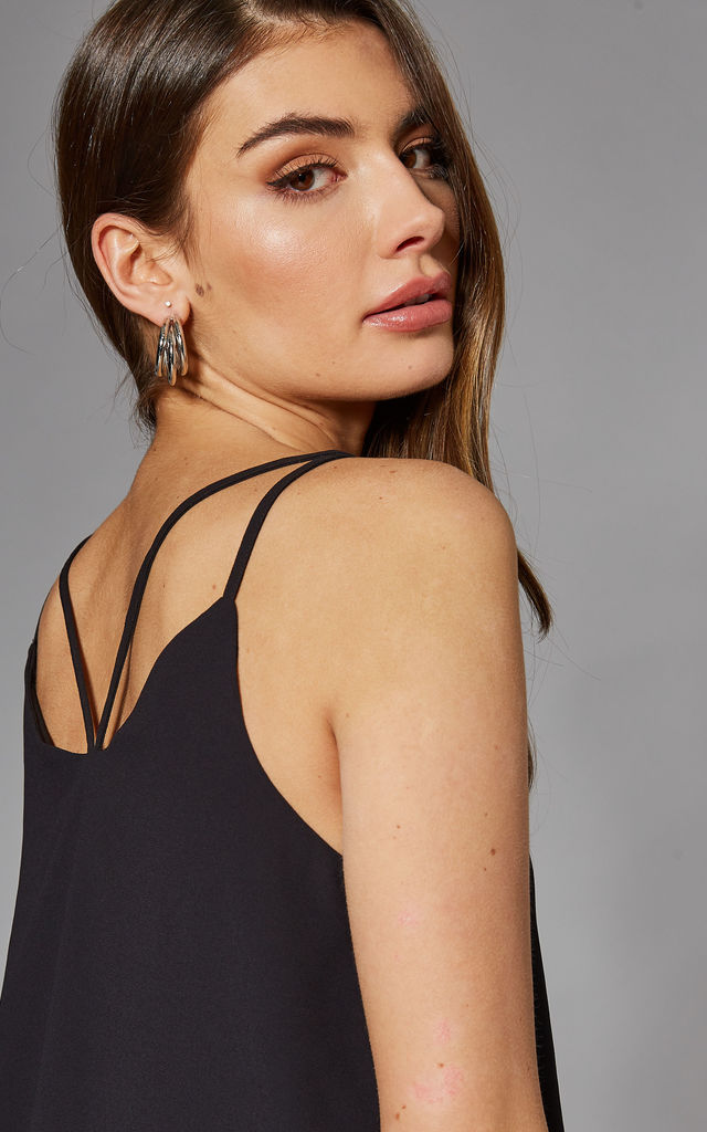 Cami Top with Strappy Back in Black by ONLY