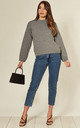 Soft Bobble Jumper in Grey by Route13