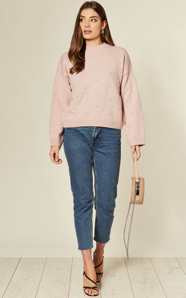 Soft Bobble Jumper in Pink by Route13