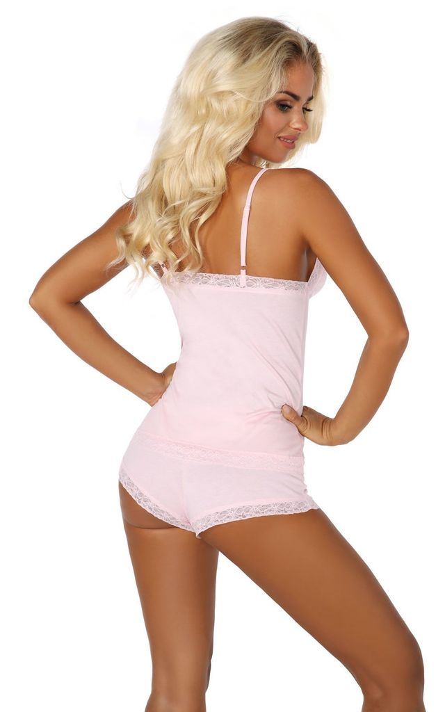 Baby Pink Cami Top & Briefs by BB Lingerie