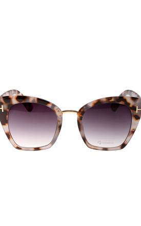 Chunky Cat Eye Sunglasses in Light Tortoiseshell by LOES House