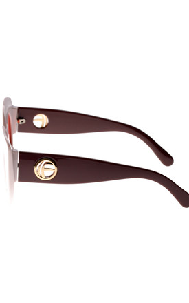 Cat Eye Sunglasses in white/brown by LOES House