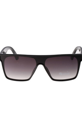 Rectangular Sunglasses in Black by LOES House