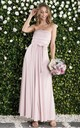 Twist & Tie Multiway Bridesmaid Maxi Dress with Bandeau in Dusty Pink by JOLIE MOI
