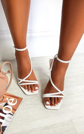 Delilah Strappy High Heels in White by IKRUSH