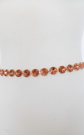 Jewelled Chain Belt in Rose Gold by Olivia Divine Jewellery