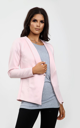 Eli Cropped Sleeve Blazer In Baby Pink by Oops Fashion